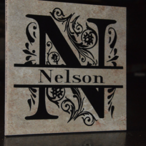 Customizable Decorative Ceramic Name Tile