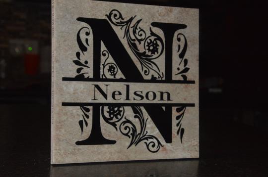 Customizable Decorative Ceramic Name Tile
