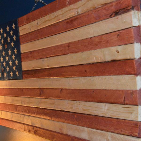 Rustic American Flag, Inexpensive American Flag, American Flag Sign, Weathered American Flag, Wood American Flag, Wall Flag