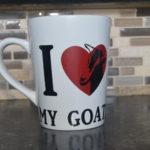 I Love My Goats: 12-oz. Porcelain Mug - Goat Theme Hand Made Coffee Mug