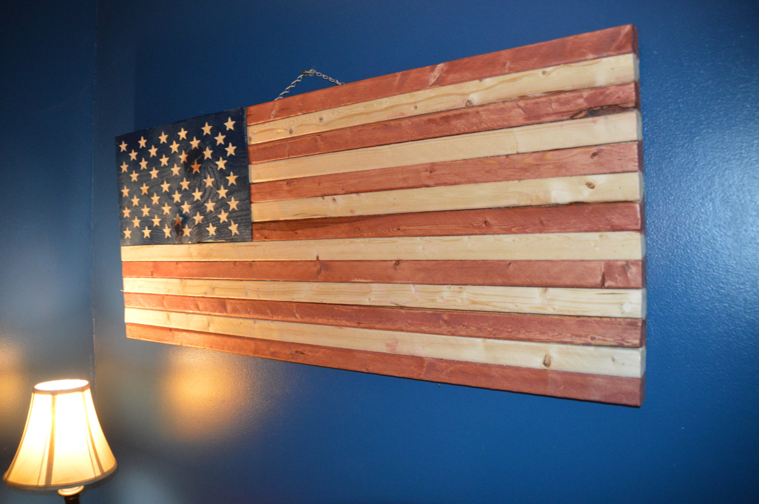 Rustic American Flag Homesteadhow