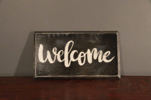 Rustic Hand Made Welcome Wooden Sign