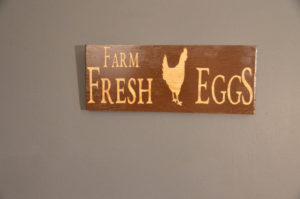 Hand Made Farm Fresh Eggs Wooden Sign